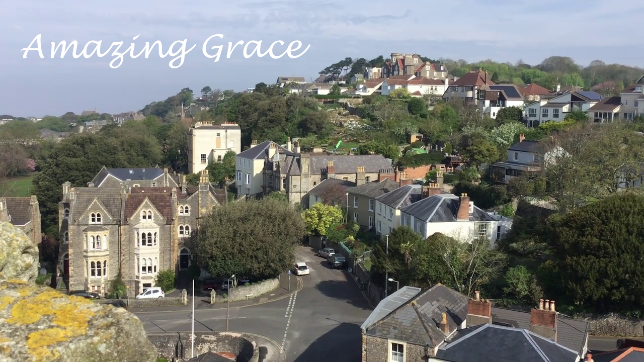 "Vicar climbs tower for ""Amazing Grace"""